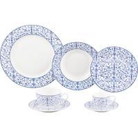 Aparelho De Jantar De Porcelana Super White Abstract Wolff – 42 Peças