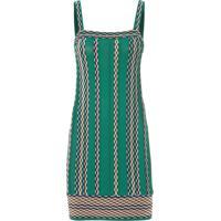 Vestido Nervura Jacquard - Verde