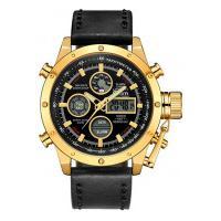 Relógio Masculino Oulm Hp3553 Analógico E Digital - Preto E Dourado