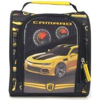 Lancheira Infantil Camaro - Unissex-Preto+Amarelo