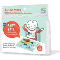 Kit Jogo Americano E Babador Descartáveis Baby Eats Likluc