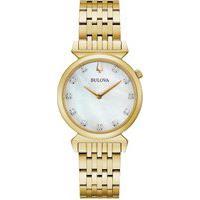 Relógio Bulova Feminino Aço Dourado - 97P149