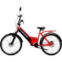 Bicicleta Elétrica Machine Motors 350W 36V Vermelho/Preto