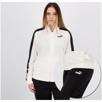 Agasalho Puma Tricot Suit Cl Feminino Branco E Preto