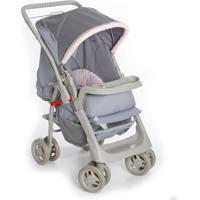 Carrinho Para Bebê Galzerano Pegasus Cinza/Rosa - Ref-1345