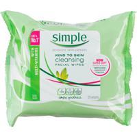 Lenços Umedecidos Simple Para Limpeza 25 Lenços