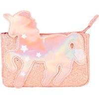 Bolsa Tiracolo Infantil Stz Glitter Holográfico Rosa -