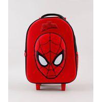 Mochila Escolar Infantil Com Rodinhas Homem Aranha Vermelha