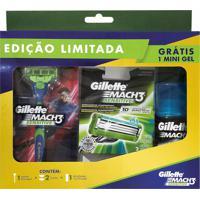 Kit Aparelho De Barbear Gillette Mach3 E 2 Cargas E Grátis 1 Mini Gel