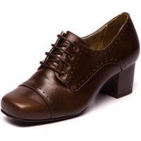 Sapato Oxford Marrom Feminino - Chocolate / Taupe 7305
