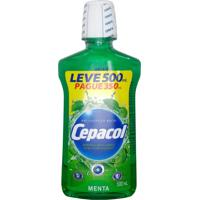 Antisséptico Bucal Cepacol Sabor Menta Leve 500 Ml Pague 350Ml