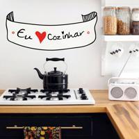 Adesivo De Parede Amo Cozinhar