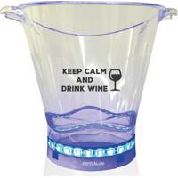 Balde De Gelo Com Led Personalizado Drink Wine