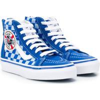 Vans Kids Tênis Cano Alto 'Sk8' - Azul