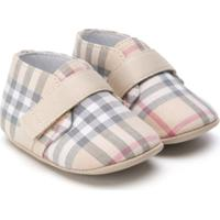Burberry Kids Sapato Signature - Neutro
