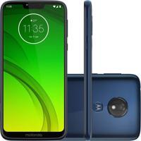 "Smartphone Motorola Moto G7 Power Android Pie 9.0 Dual Chip 12Mp 6.2"" 64Gb 4G Azul Xt1955"