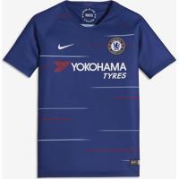 ... Camisa Nike Chelsea I 2018 19 Torcedor Infantil 7fd57255682b4