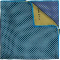 Paul Smith Lenço Color Block De Seda - Azul
