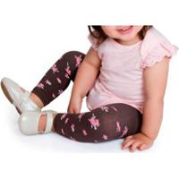 Meia-Calça Legging Flores Lupo Baby (13501-020)