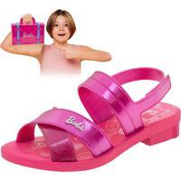 Sandália Infantil Barbie Volta Ao Mundo Grendene Kids - 22025 Pink 30