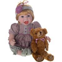 Boneca Laura Baby Diana - Loiro & Azul- 50X20X10Cmshiny Toys