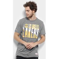 Camiseta Nba Los Angeles Lakers Mitchell & Ness Scribble Fill Masculina - Masculino