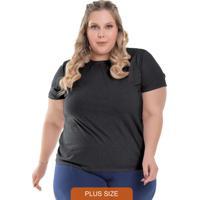 T-Shirt Feminina Plus Size Lisa Preto