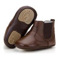 Botina Infantil Em Couro Capelli Boots Marrom