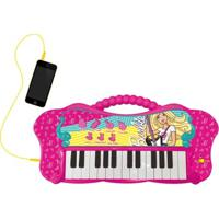 Teclado Musical Com Mp3 Player - Barbie - Teclado Fabuloso - Fun - Feminino-Incolor