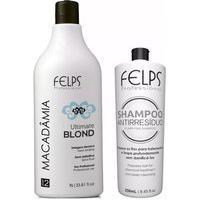 Kit Selagem Térmica Macadâmia 1000Ml+Shampoo Antirresiduo 250Ml