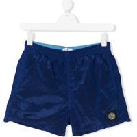 Stone Island Junior Short De Natação - Azul