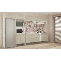 Cozinha Modulada Completa Com 8 Módulos Branco/Nude - Art In Móveis