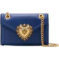 Dolce & Gabbana Bolsa Transversal Devotion Pequena - Azul