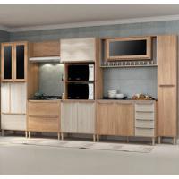 Cozinha Compacta C/Tampo Allure08 Fosco – Fellicci - Carvalho / Blanche