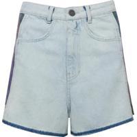Shorts Bobô Odete Jeans Azul Feminino (Jeans Claro, 44)