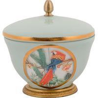Vaso Decorativo De Cristal E Bronze V - Linha Botanique