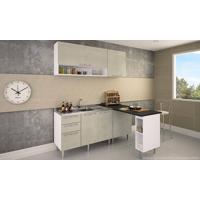 Cozinha Modulada Completa Com 5 Módulos Branco/Nude - Art In Móveis
