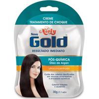 Creme Niely Gold Tratamento Choque Pós Química 30G