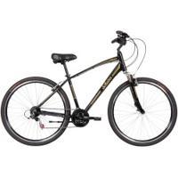 Bicicleta Schwinn Chicago Aro 700C - V-Brake - Câmbios Shimano - 21 Marchas - Masculina - Preto/Ouro