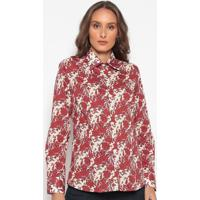 Camisa Floral - Bege & Vermelhadudalina