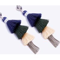 Brinco Cascade Color Azul - U