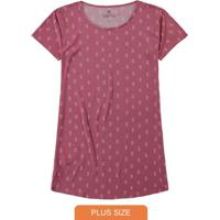 Camisola Rosa Plus Size Abacaxis