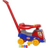 Carrinho De Passeio Infantil Totoka Plus Com Empurrador - Masculino-Vermelho+Azul