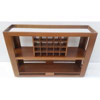 Aparador Bar Mariscal C/ Espelho Cor Pinhao - 10288 - Sun House