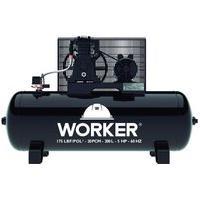 Compressor De Ar 5Hp 175Psi 200L 20Pcm Worker 180504 Trifásico