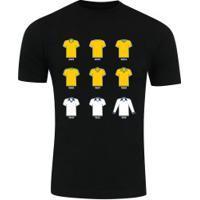 Camiseta Adams Básica Futebol - Masculina - Preto - Final Copa América Bra X Per - Preto