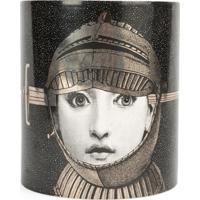 Fornasetti Vela Com Suporte De De Cerâmica 'Armatura' - Cinza