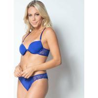 Conjunto Click Chique Nadador - Feminino-Azul
