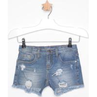 Short Jeans Com Destroyed- Azulcalvin Klein