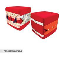 Cubo Com Atividade - Vermelho & Off White- 20X20X20Ccia Brink